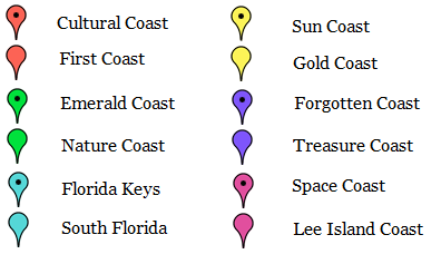 Interactive Map Of Florida.Florida Beach Map Florida Nature Guide Coastal Section